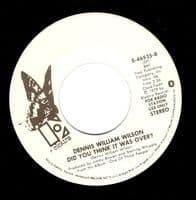 DENNIS WILLIAM WILSON One Of Those People Vinyl Record 7 Inch US Elektra 1979 Promo.